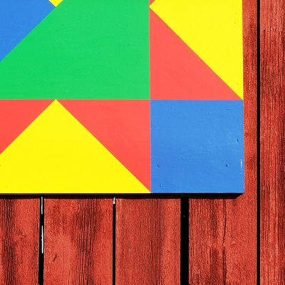 Barn Quilt on side of barn