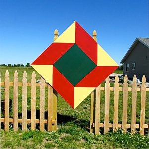 "Central Minnesota's Barn Quilt titled ""Contrary Husband"""