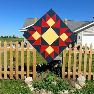 Contrary Wife barn quilt designed for Lorna Wiens.