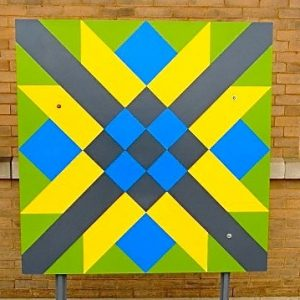 Railroad Crossing Barn Quilt