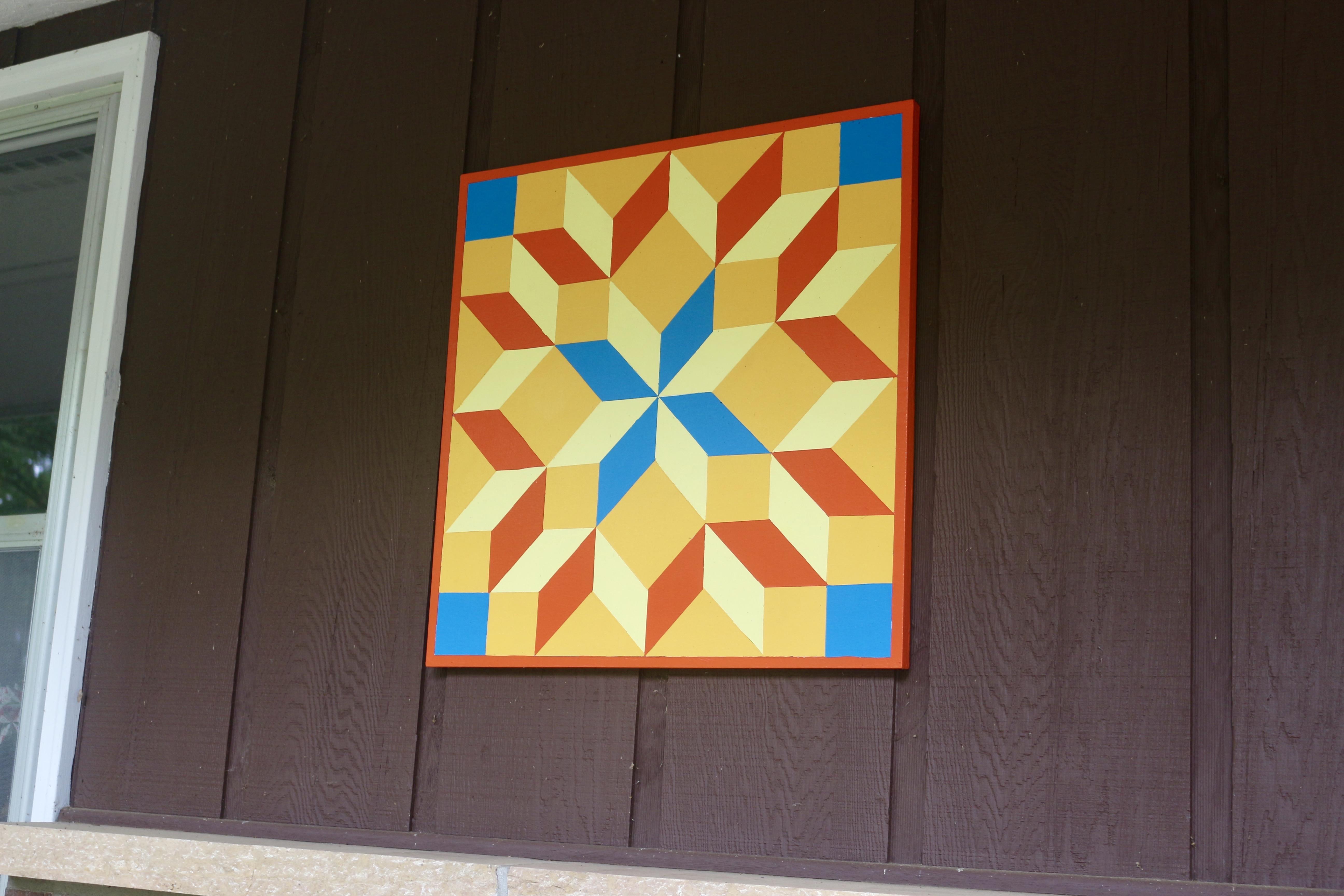 Tumbling Blocks barn quilt